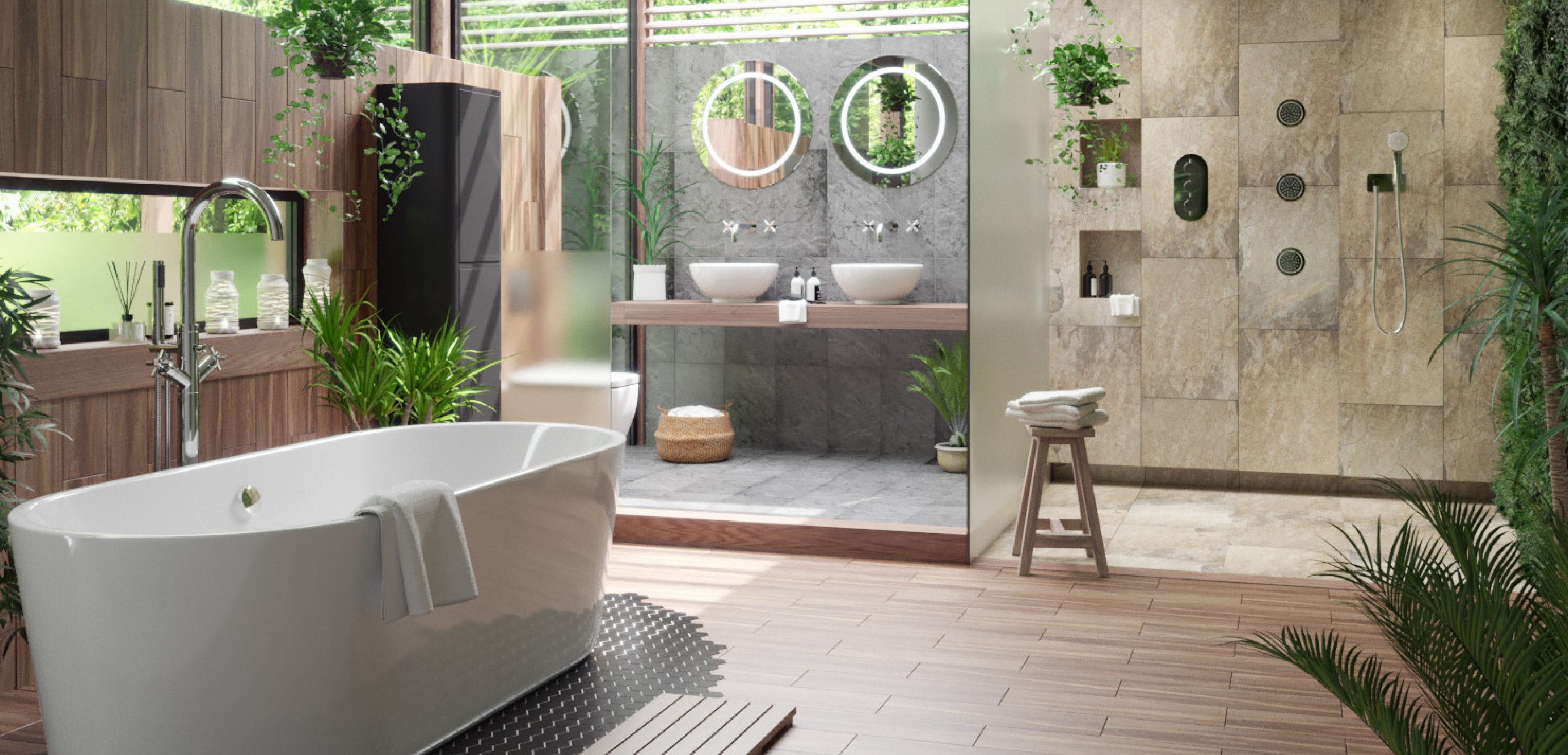 10 Tropical Bathroom Ideas for This Summer 2018 tropical bathrooms