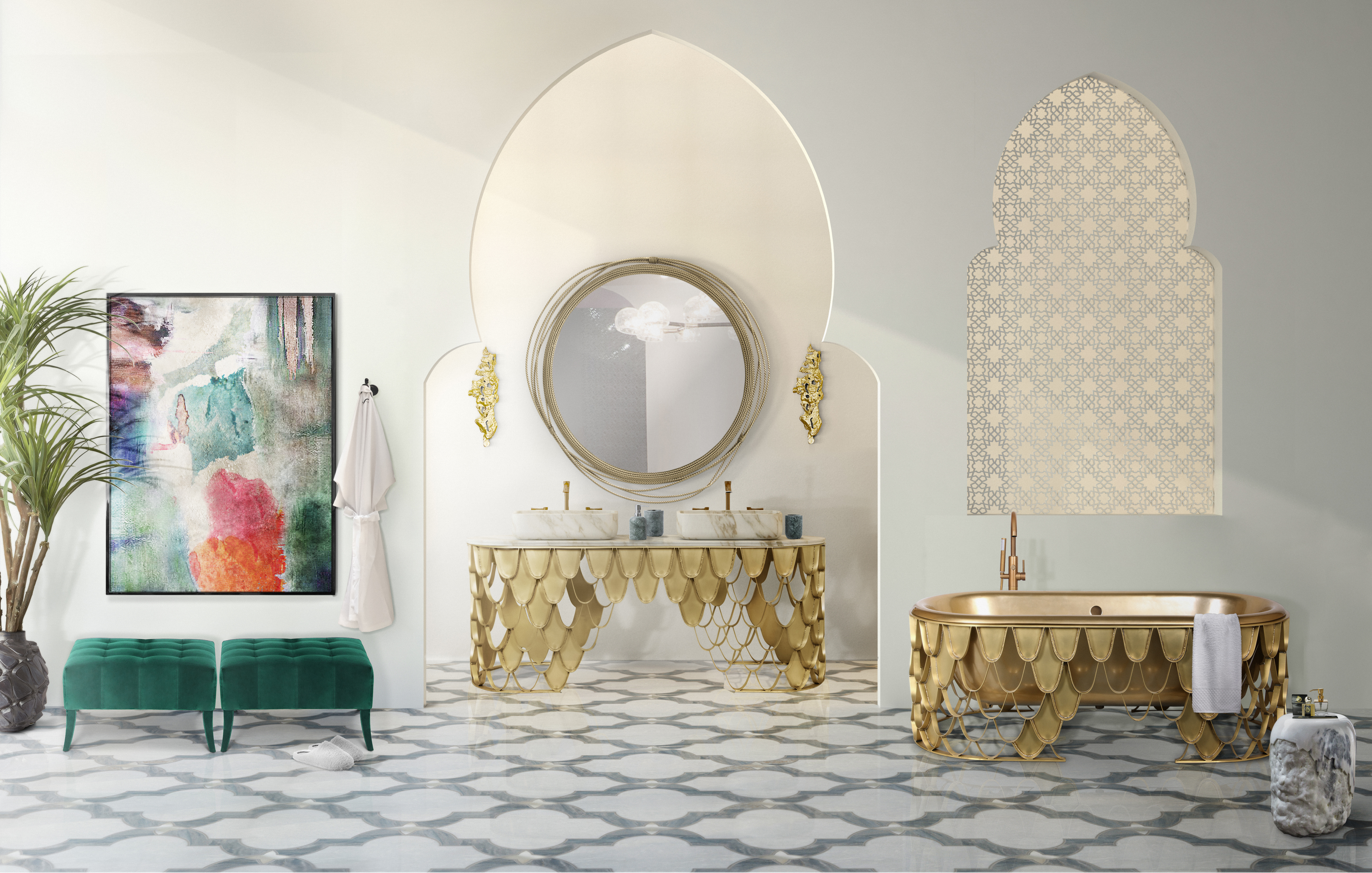 5 spectacular bathroom mirrors 5 Spectacular Bathroom Mirrors That Will Delight You 30 koi washbasin koi bathtub 1 HR 1