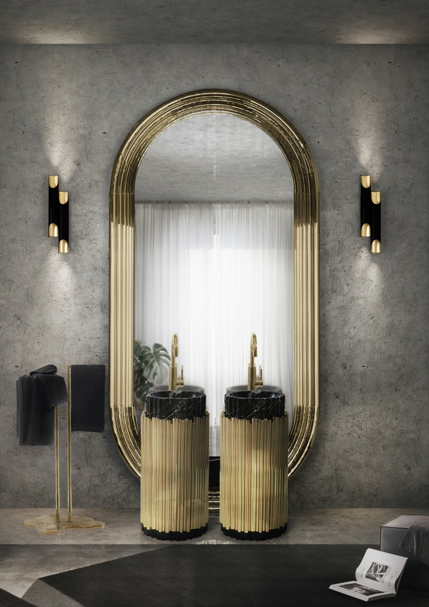 Discover The Essence Of The Colosseum Mirror A Visual Odyssey to Maison Valentinas Best Curated Bathroom Mirrors 9