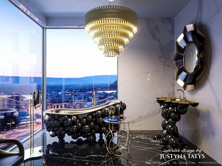 Find All About The Justyna Tatys Project With Maison Valentina Bathroom Projects Apartment in Z  OTA 44 Tower Warsaw by Justyna Tatys 4
