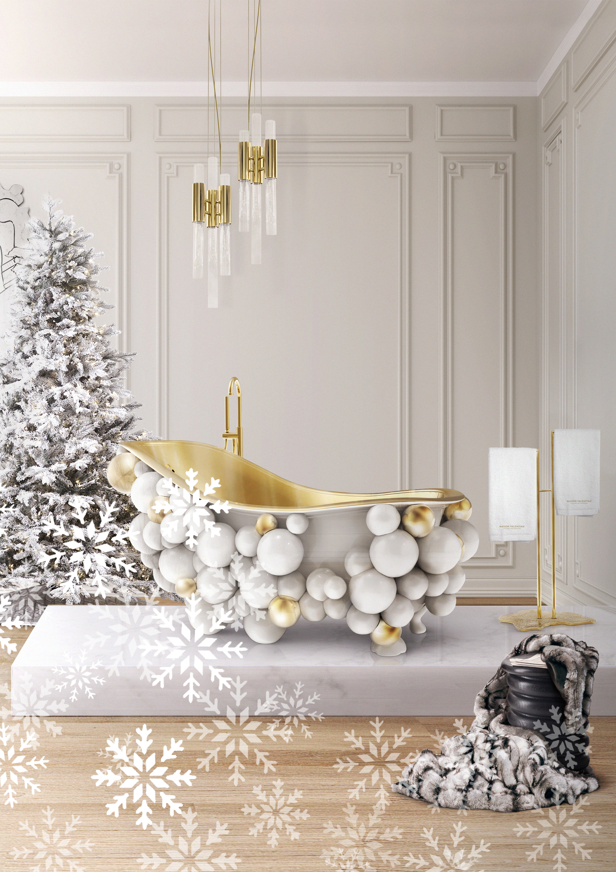Luxury Hints For An Enchanted Christmas Bathroom Luxury Hints For An Enchanted Christmas Bathroom capa