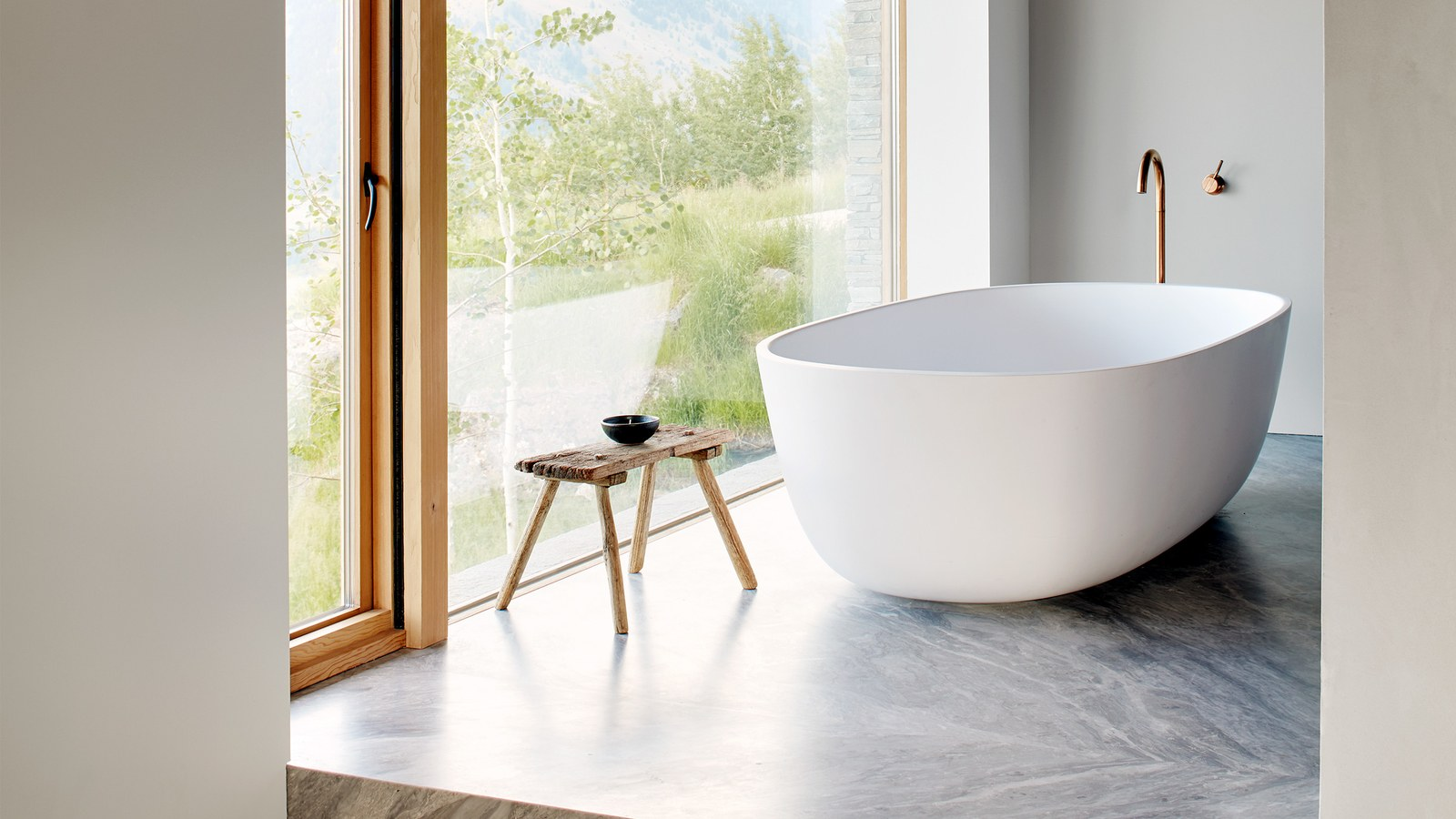 architectural digest Best of 2019: Great Bath Design Awards by Architectural Digest Great Design Awards  Embracing Natural Materials 1