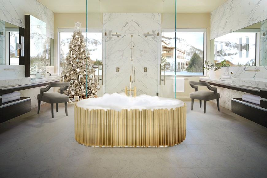 maison valentina Bring Those Holiday Vibes to Your Bathroom with Maison Valentina Reinvent Your Luxury Bathroom Project With These Holiday Decor Vibes 5