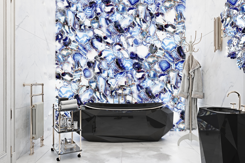 Pantone's Colour of the Year 2020, bathroom, design, maison valentina, bathtub, classic blue pantone's colour of the year 2020 3 Bathroom Designs to Add Pantone's Colour of the Year 2020 to Your Home Maison Valnetina   Classic Blue  Diamond  3 Badezimmerdesigns: Pantone-Farbe des Jahres 2020 Zuhause Maison Valnetina   Classic Blue  Diamond