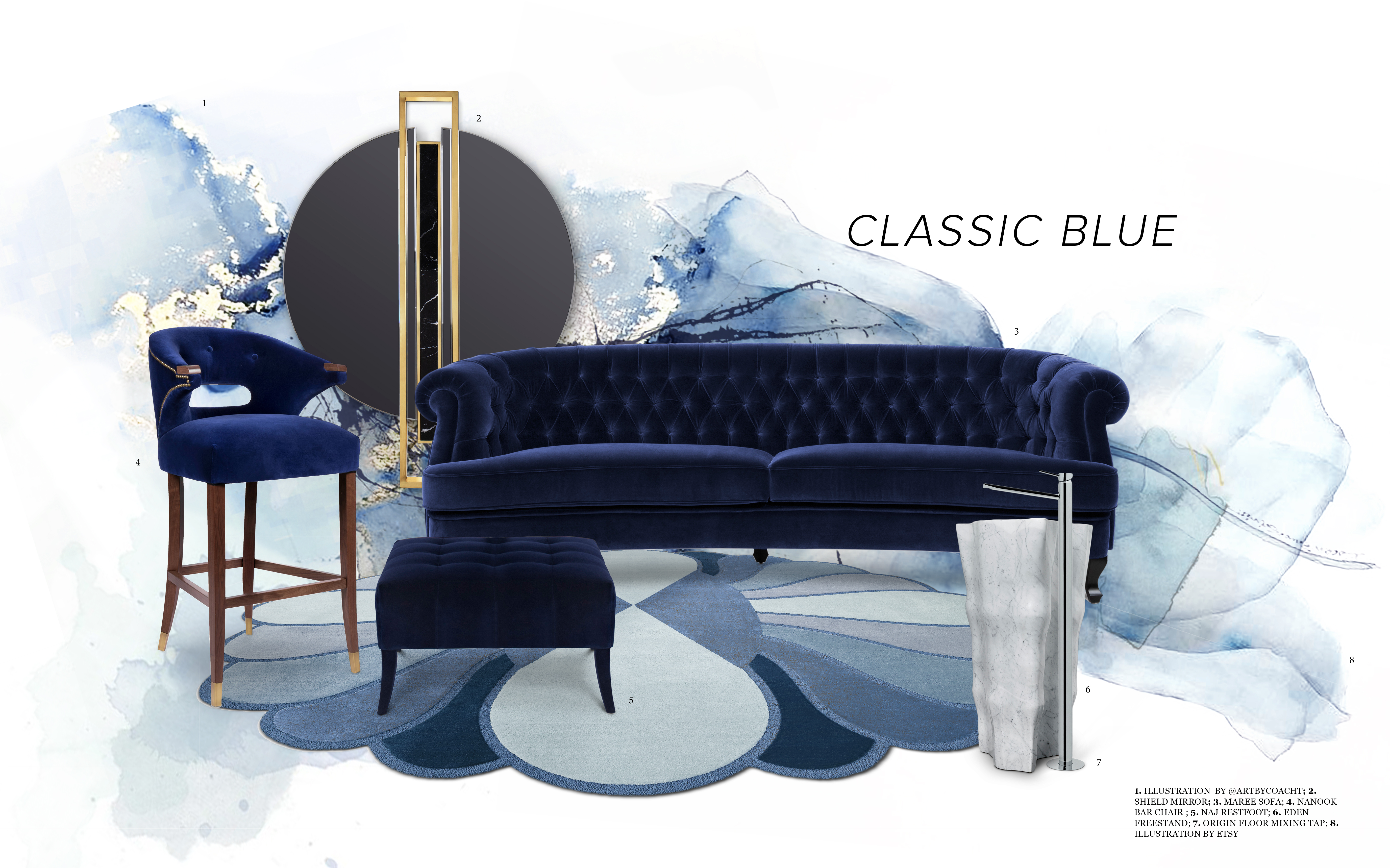 pantone's colour of the year 2020 3 Bathroom Designs to Add Pantone's Colour of the Year 2020 to Your Home classic blue
