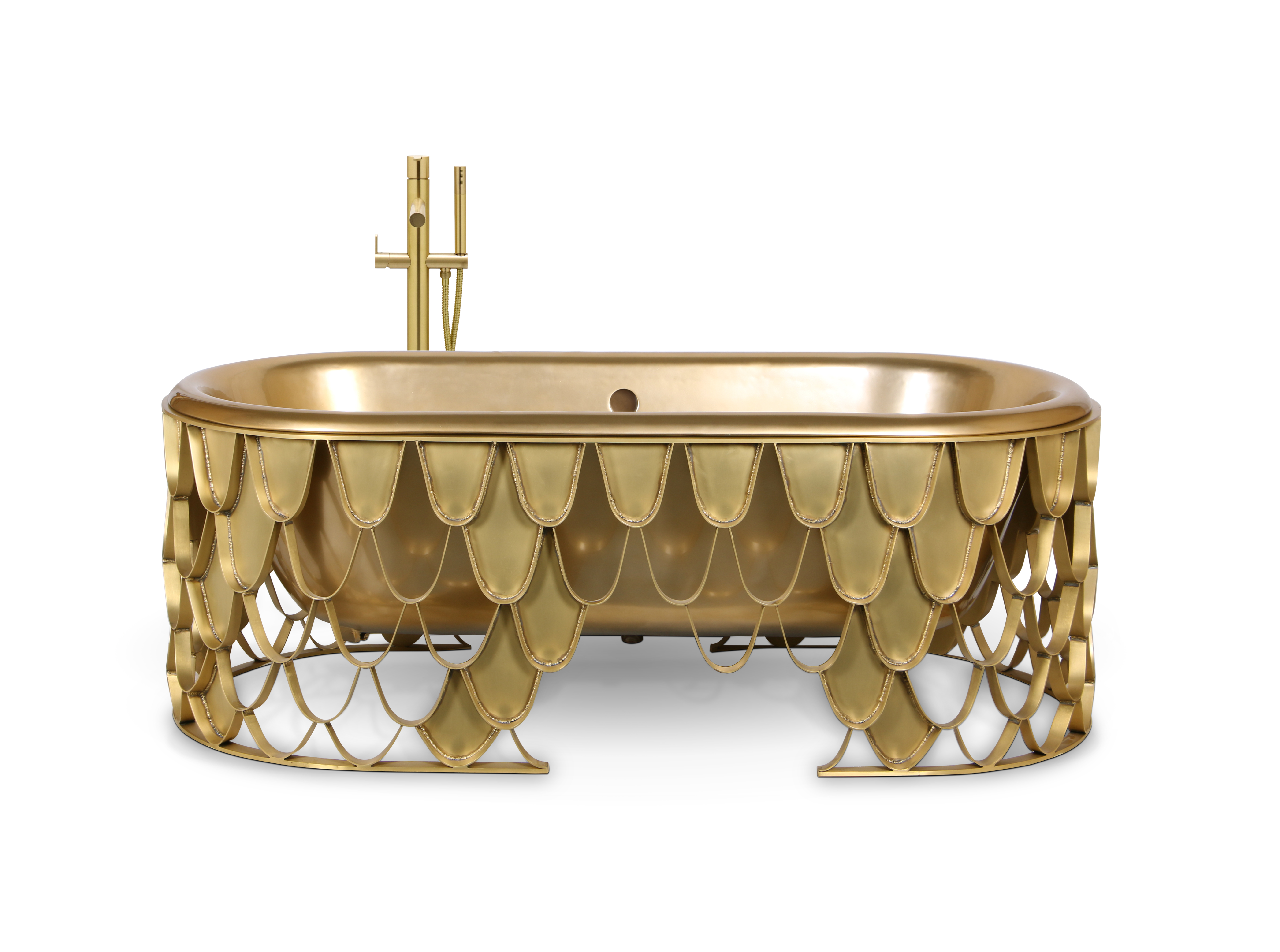 bathroom, golden bathroom, gold,maison valentina, bathub, mirror, rug, tap, bathroom decoration, bathroom decor bathroom 5 Ideas to Add a Touch of Gold to Your Bathroom 5 ideas to add a touch of gold to your bathroom  koi bathtub 1 HR