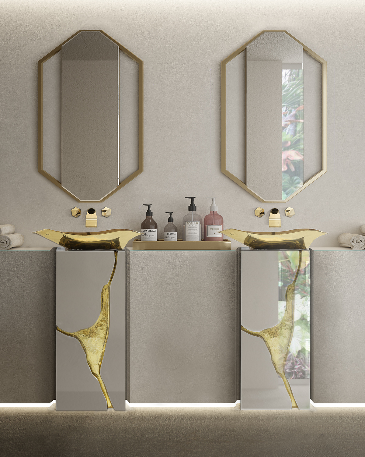 Decor Ideas, bathroom, bathroom decor, maison valentina, freestanding, spring, spring trends,   3 Amazing Decor Ideas to Make your Bathroom Bloom this Spring Spring Trends  Monochromatics