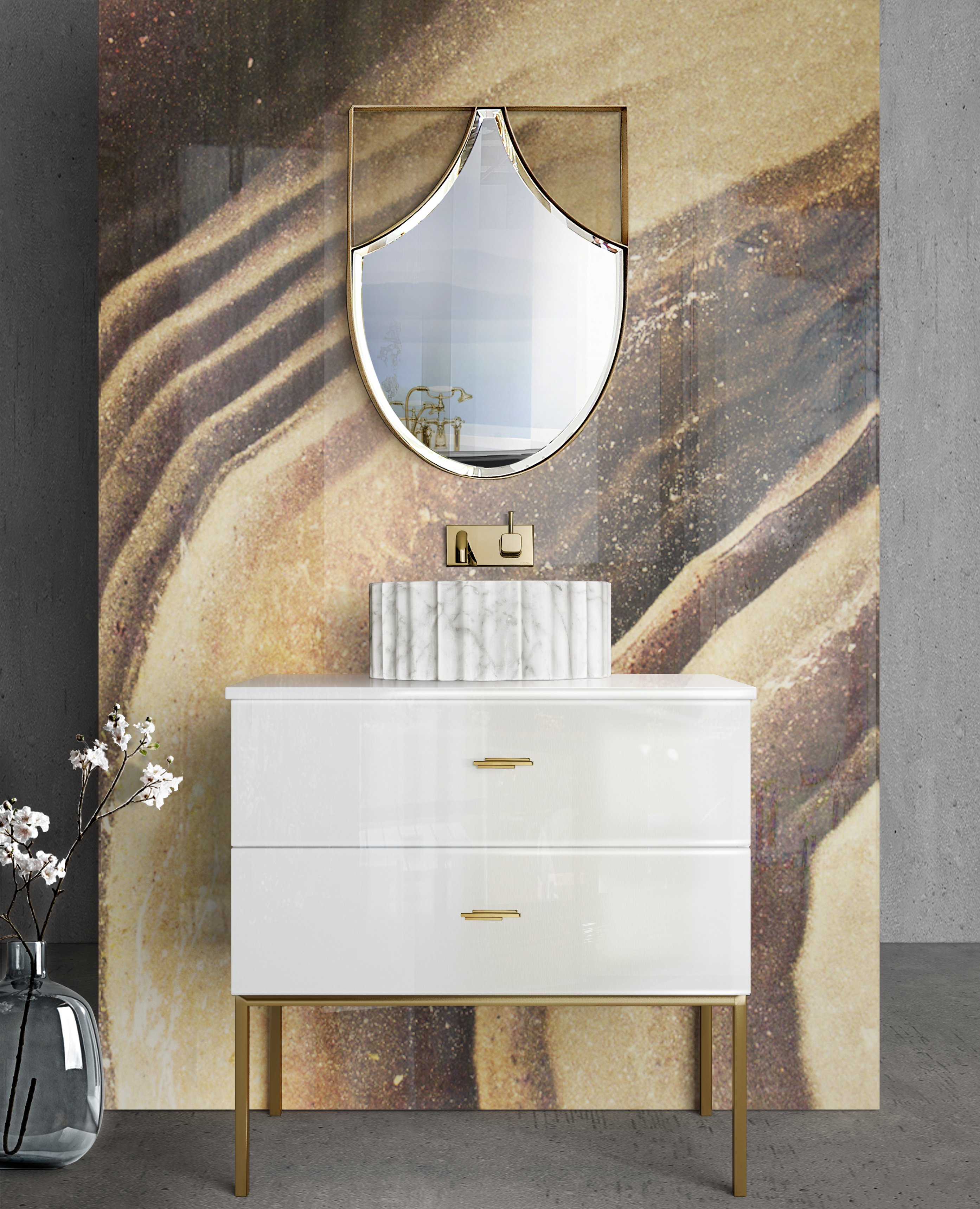 Decor Ideas, bathroom, bathroom decor, maison valentina, freestanding, spring, spring trends,   3 Amazing Decor Ideas to Make your Bathroom Bloom this Spring Spring Trends Bathroom Earth Tones