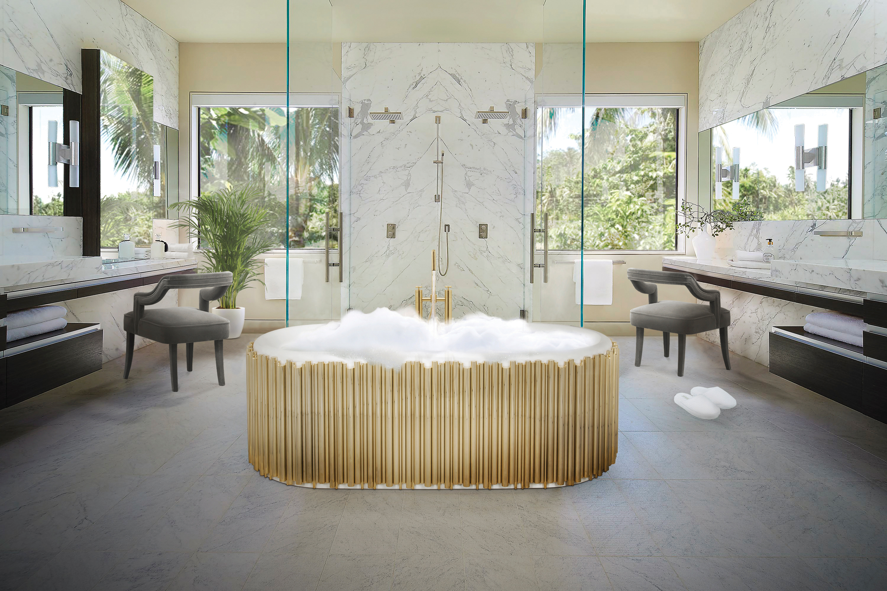 transform your bathroom Elegant and Functional Tips to Transform Your Bathroom into a Relaxing Place Symphony Bathtub