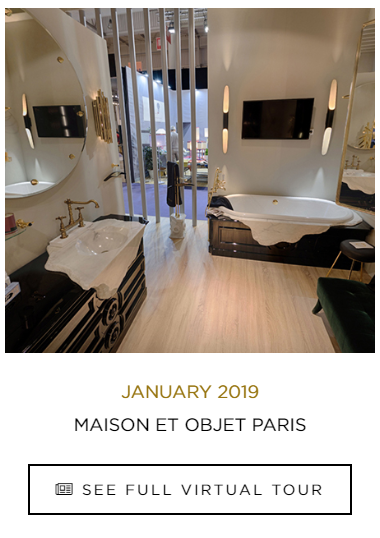 Sensory Experience, bathrooms, bathtub, virtual tour, maison valentina, product sensory experience 360º Sensory Experience – Discover the Best Bathrooms Through a Collection of Virtual Tours Maison et objet 2019