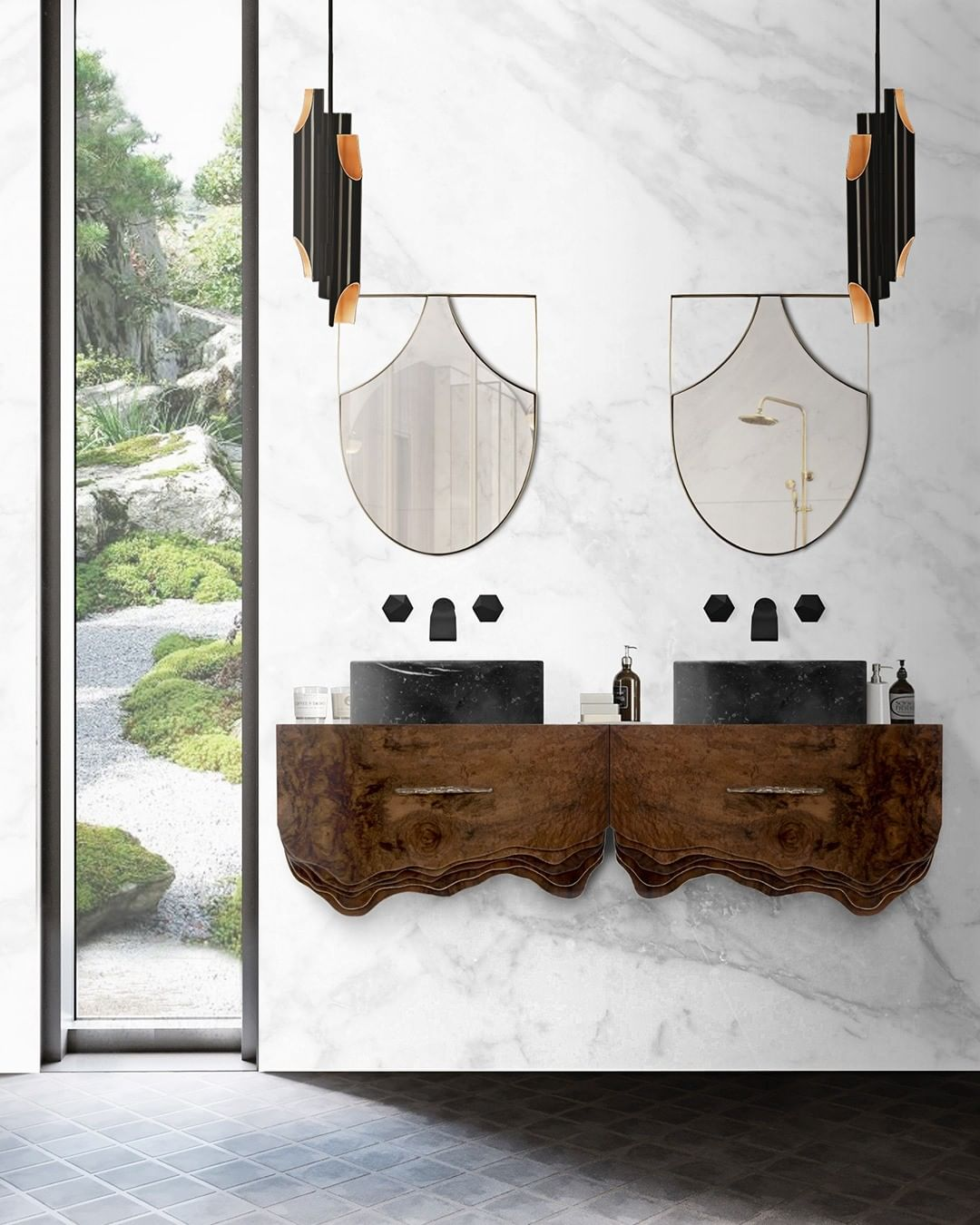 Summer trends, bathroom, bathroom design, bathtub, marble, maison valentina, interior design summer trends Have your Bathroom Ready For The Next Season: Summer Trends Report Inst image 5