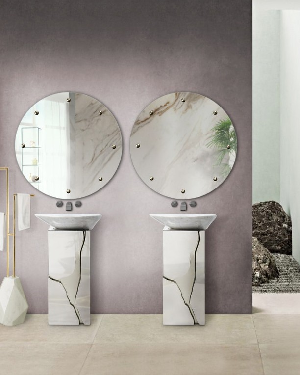 Summer trends, bathroom, bathroom design, bathtub, marble, maison valentina, interior design summer trends Have your Bathroom Ready For The Next Season: Summer Trends Report Inst image 7 1