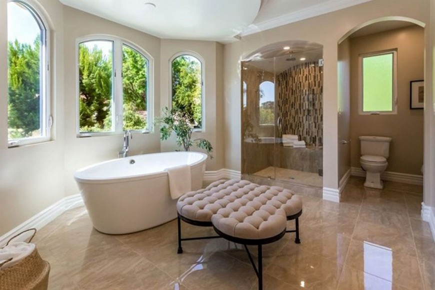 Celebrities Open Their Homes to You: 5 Luxury Bathroom Design Projects 5 Luxury Bathroom Design Projects Own By Famous Celebrities To Inspire 9