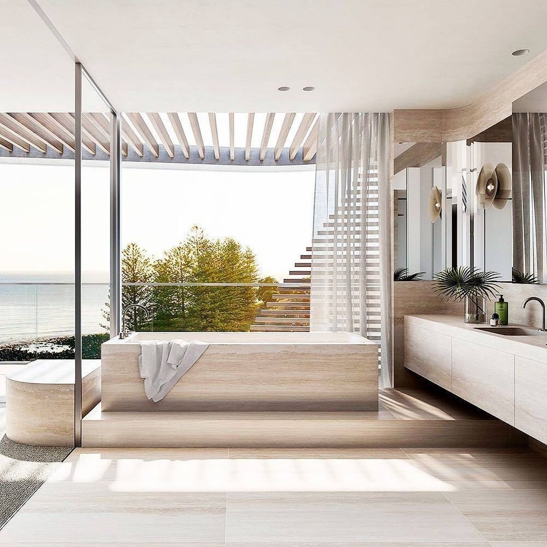 Bathroom With a View, bathroom, view, design, bathtub, maison valentina, bathroom  Bathroom With a View: 7 Captivating Designs Mim Design