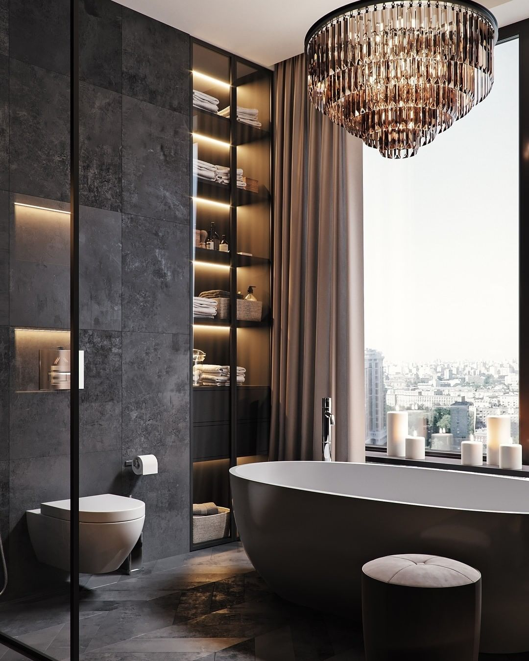Bathroom With a View, bathroom, view, design, bathtub, maison valentina, bathroom  Bathroom With a View: 7 Captivating Designs tsaunya design