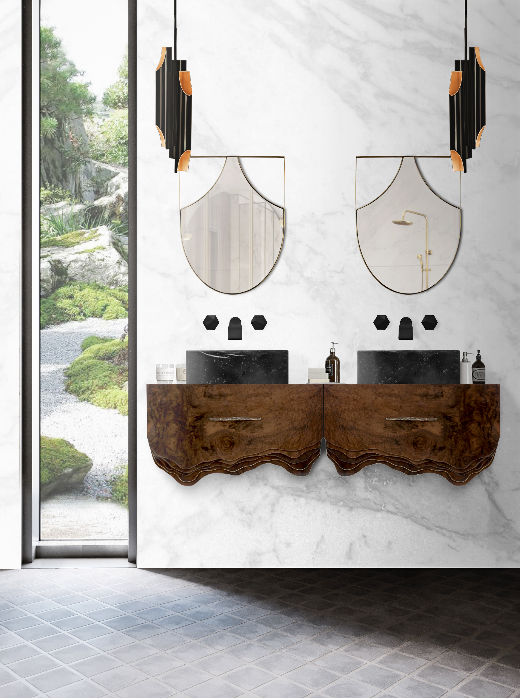 Bathrooms With Wooden Details, maison valentina, wood, bathrooms, design bathrooms with wooden details Bathrooms With Wooden Details : 3 Innovative Beautiful Ideas Bathroom with Wood Accents Huang Suspension Cabinet