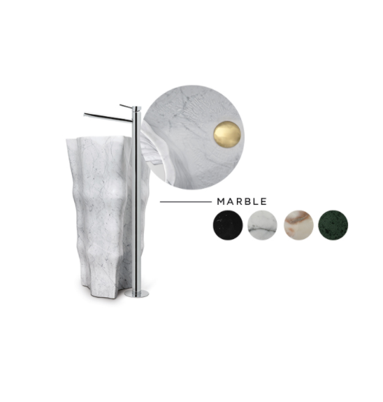 Freestanding Washbasin, marble, bathroom, small bathroom  Marble Freestanding Washbasins : The Glamour Your Bathroom Deserves eden stone freestanding