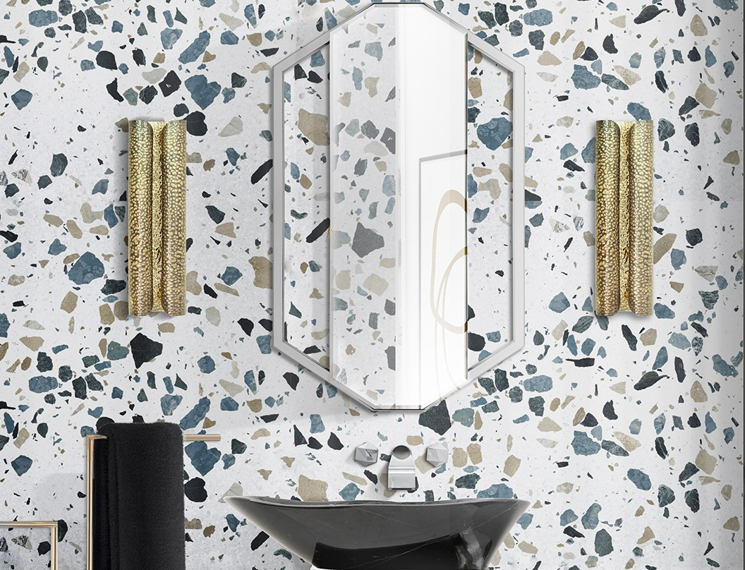 Bathroom Design Trends : Terrazzo is a Bold Choice Terrazo bathroomjpg 2