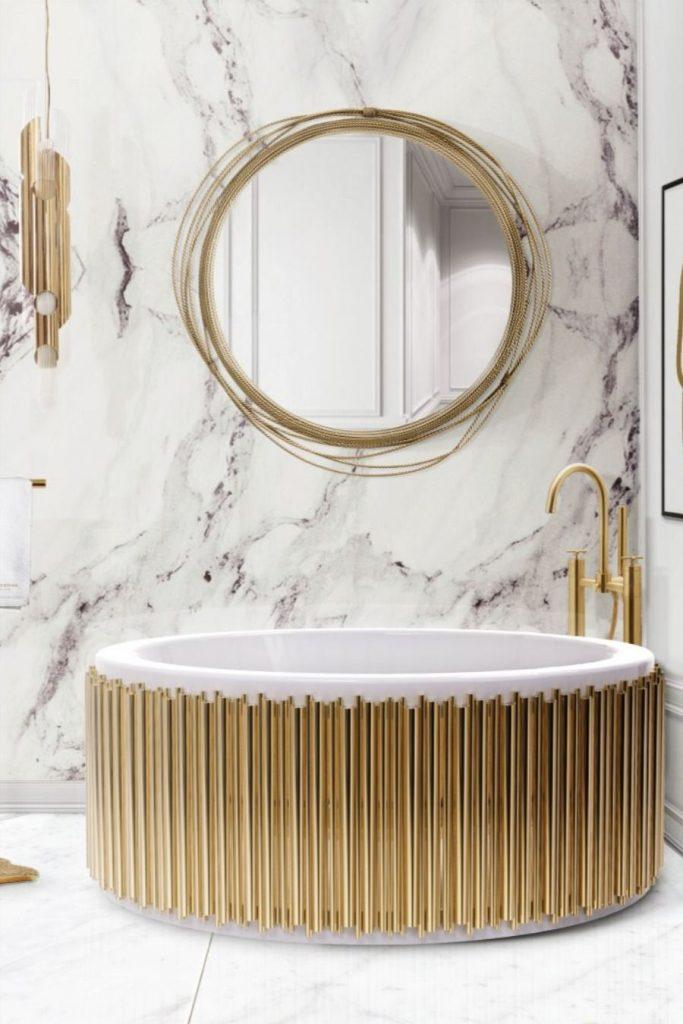 glamorous bathtubs 15 Most Glamorous Bathtubs to Have in 2021 36c024e365ad51c44200b01539fbeeb1 683x1024