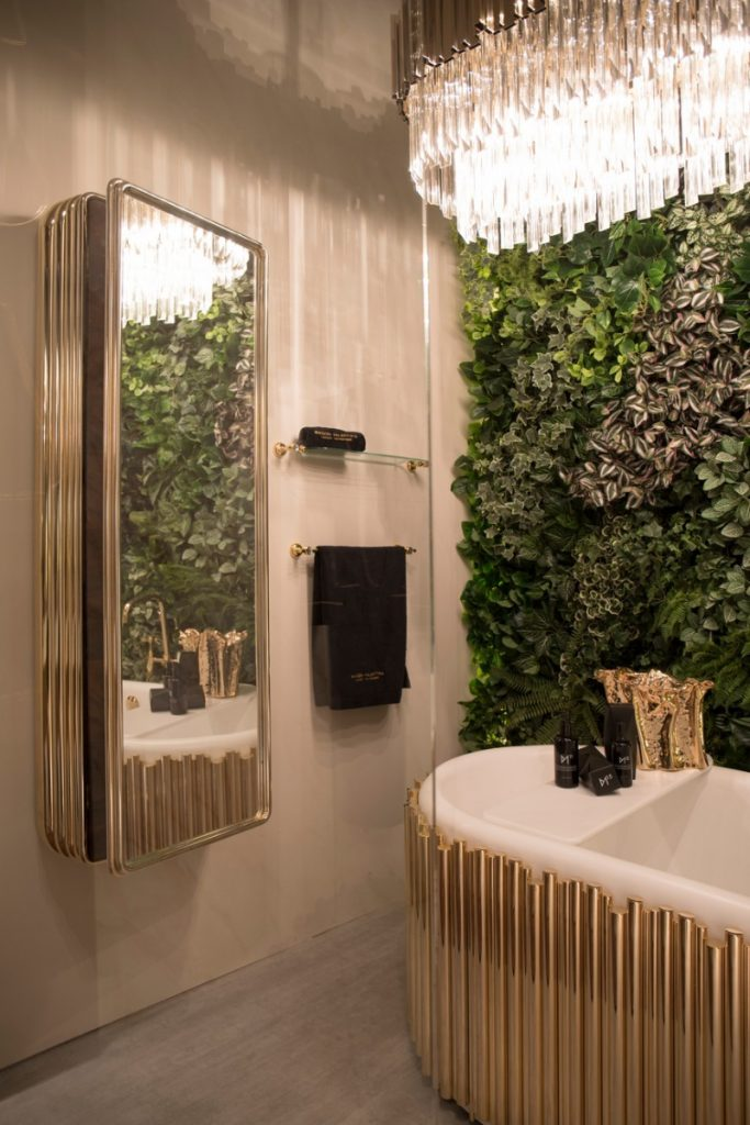 glamorous bathtubs 15 Most Glamorous Bathtubs to Have in 2021 4 Maison Valentinas bathroom ambiences from iSaloni 2019 683x1024