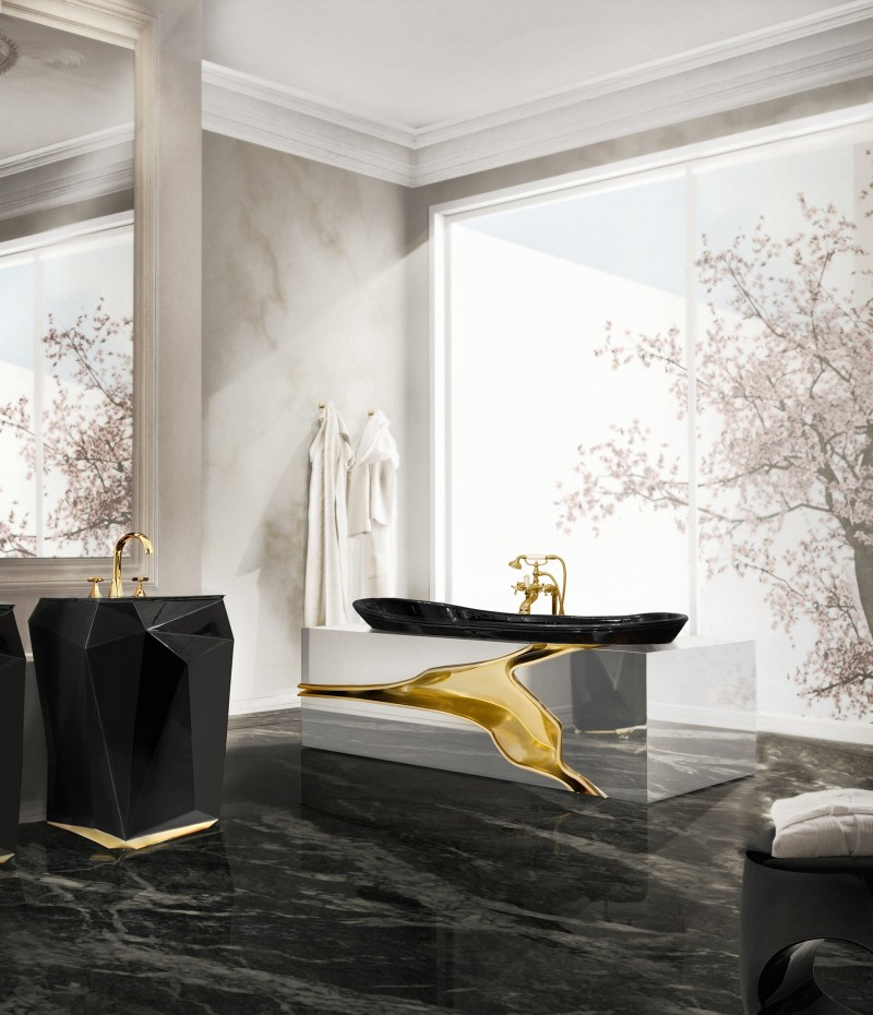 glamorous bathtubs 15 Most Glamorous Bathtubs to Have in 2021 diamond freestand and lapiaz bathtub 1