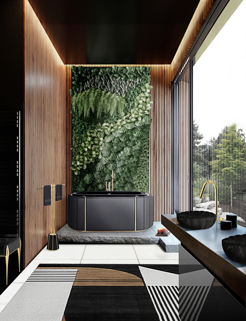 Classy Bathrooms: Dark Tones Ideas For Your New 2021 Private Oasis classy Classy Bathrooms: Dark Tones Ideas For Your New 2021 Private Oasis Darian Bathtub