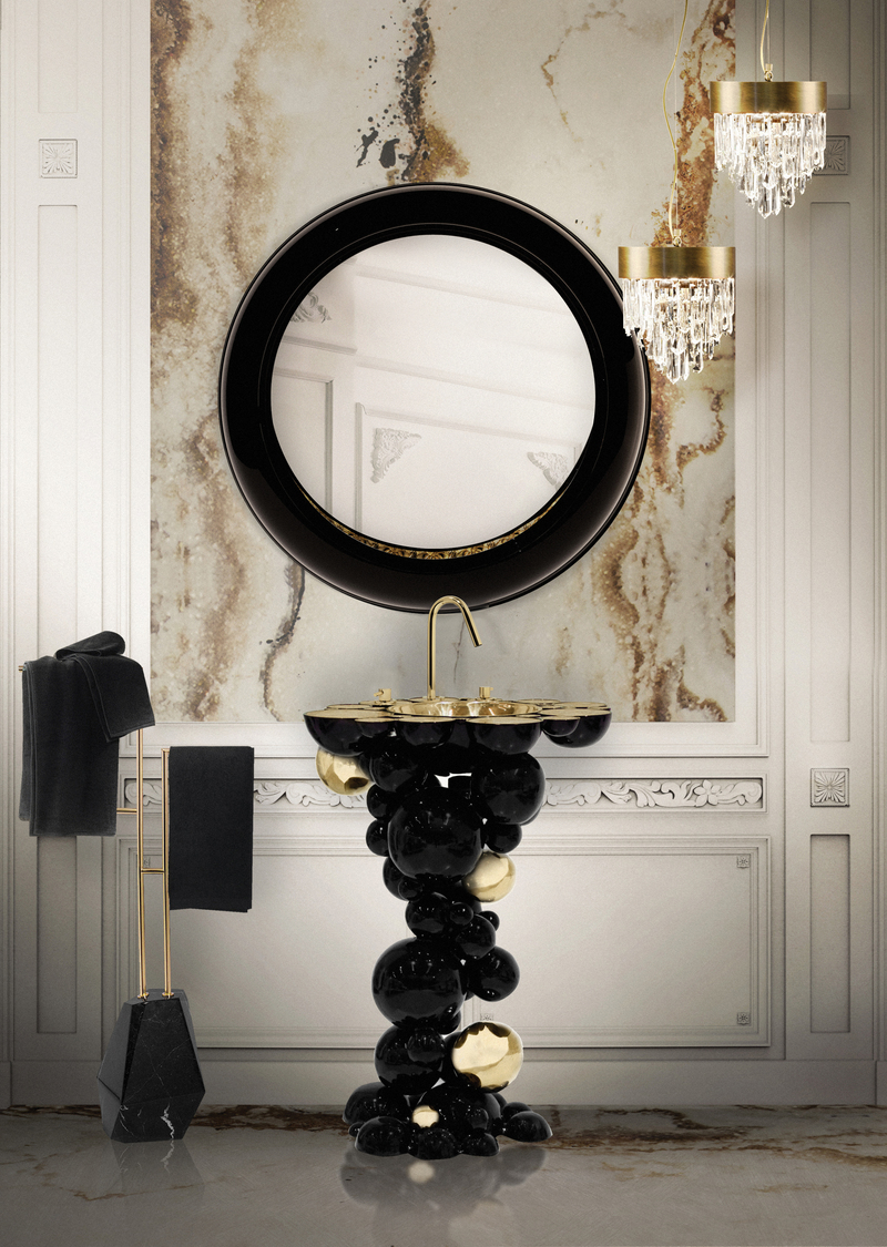 Classy Bathrooms: Dark Tones Ideas For Your New 2021 Private Oasis classy Classy Bathrooms: Dark Tones Ideas For Your New 2021 Private Oasis Newton Freestanding
