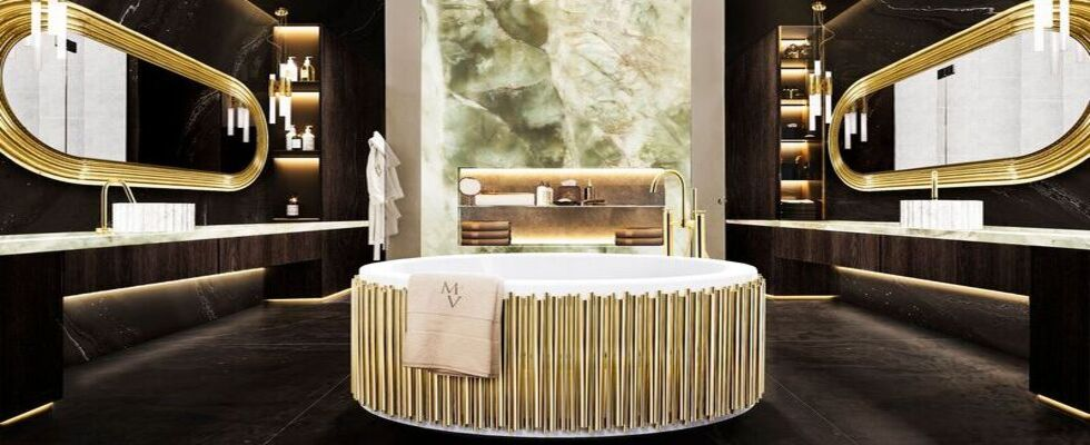 bathroom Heavenly Touches Of Gold That Will Light Up Your Bathroom The Midas Touch Golden Bathrooms That Shine3 1