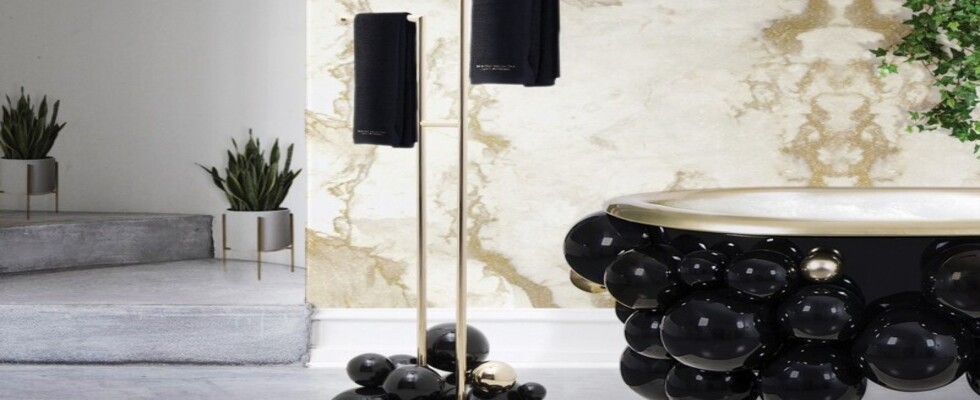 accessories Bathroom Inspirations: Bathroom Accessories To Feel Amazed By contemporary bathroom decor with newton towel rack 1 1