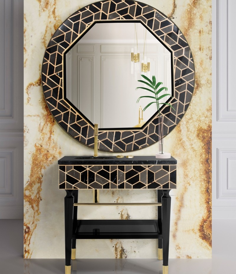 Bathroom Ideas To Fill You With Inspiration! bathroom Bathroom Ideas To Fill You With Inspiration! mix and match bathroom  tortoise mirror and tortoise freestanding 1