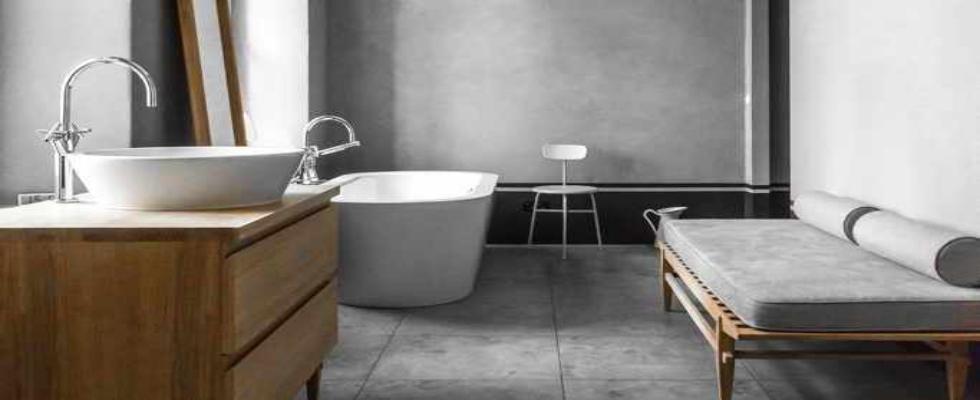 Minimalistic contemporary bathrooms with vintage ideas by Loft Kolasiński loft kolasiński Loft Kolasiński: Minimalistic contemporary bathrooms with vintage ideas HOUSE NEAR BERLIN 1 1