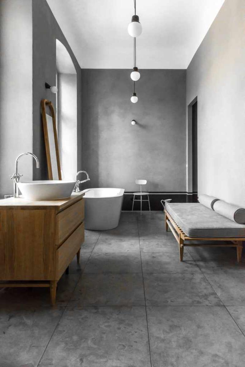 Minimalistic contemporary bathrooms with vintage ideas by Loft Kolasiński