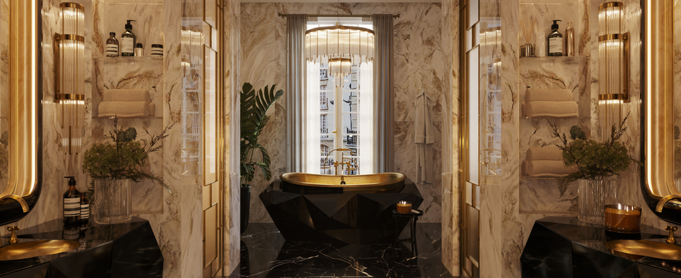 the apartment Éternel The Apartment Éternel: The Most Iconic Bathrooms Paris Has To Offer SOIREE BATHROOM CAMERA 01 F 1 1