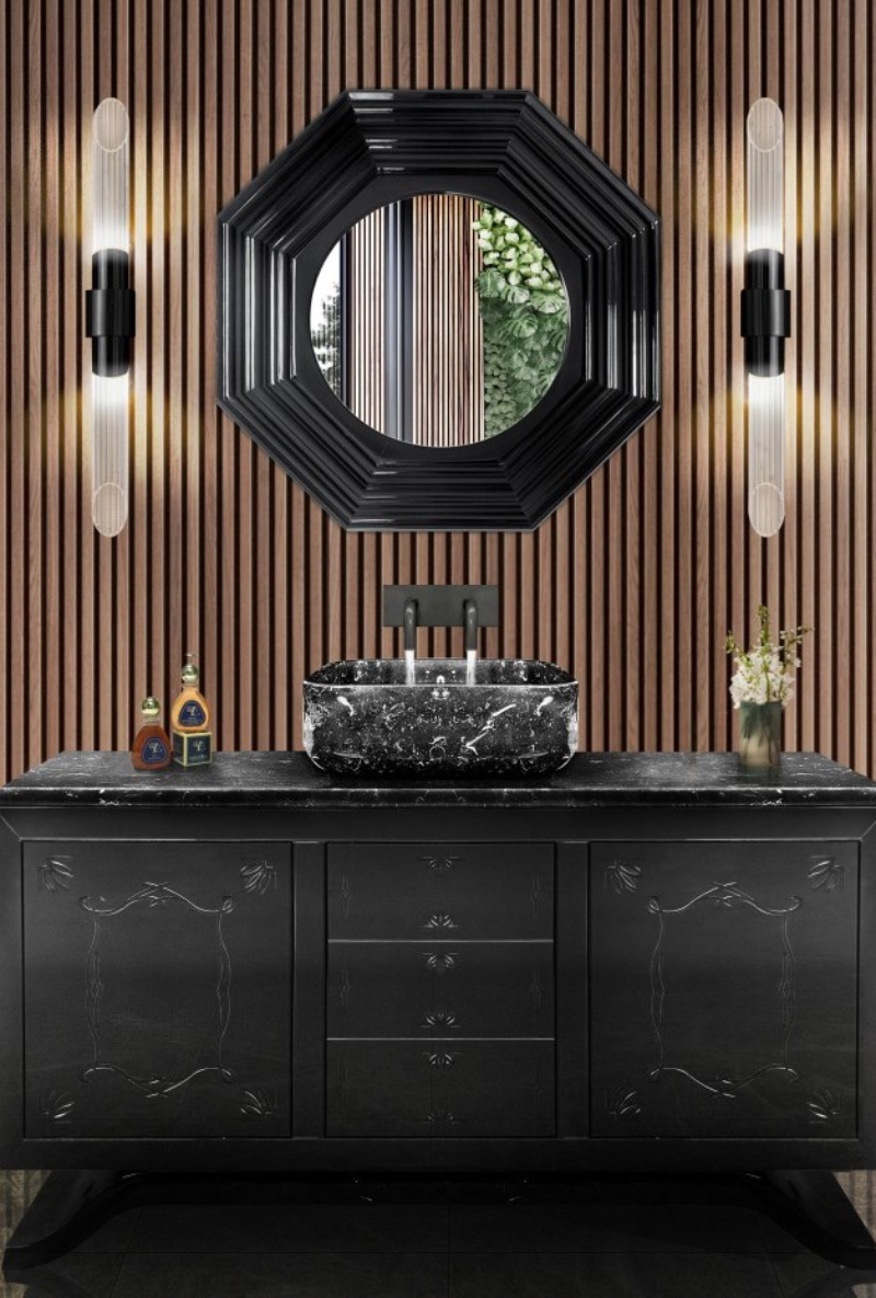 Modern classic bathrooms ideas with Isabella Hamann isabella hamann Modern classic bathrooms ideas with Isabella Hamann black finish master bathroom 1