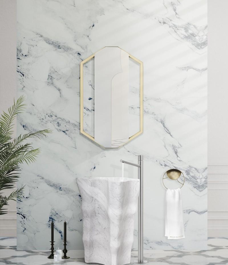 Contemporary interiors with distinctive bathroom designs by 4a Architekten 4a architekten Contemporary interiors with distinctive bathroom designs by 4a Architekten eden stone freestanding blends with sapphire mirror 1