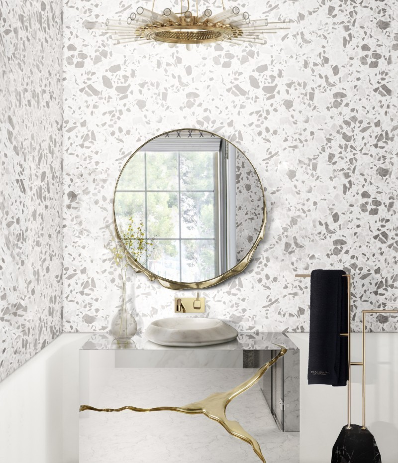 versatile master bathrooms projects by axel schoenert architects Versatile Master Bathrooms Projects by Axel Schoenert Architects terrazzo bathroom with lapiaz cabinet 1