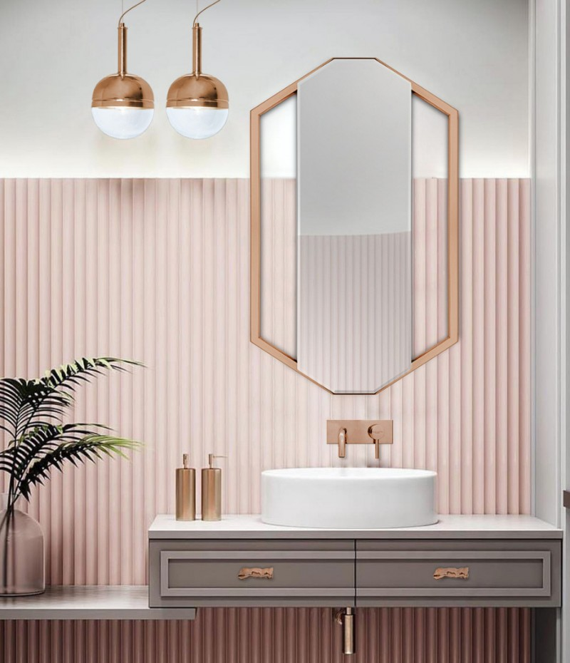 The Most Fabulous Bathroom Designs Bathroom Designs The Most Fabulous Bathroom Designs amazing pink bathroom with sapphire mirror and the iconic koi round vessel sink 1 1