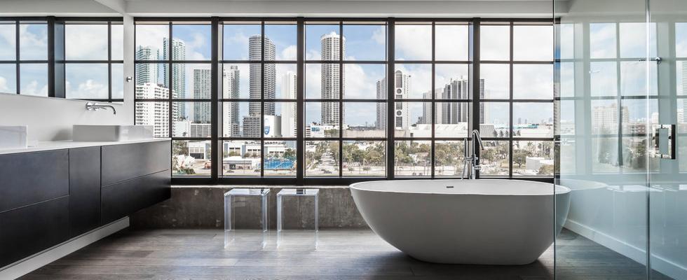 Elegant Luxury Bathroom Interior Design Projects by 2id Interiors - Park Loft Midtown