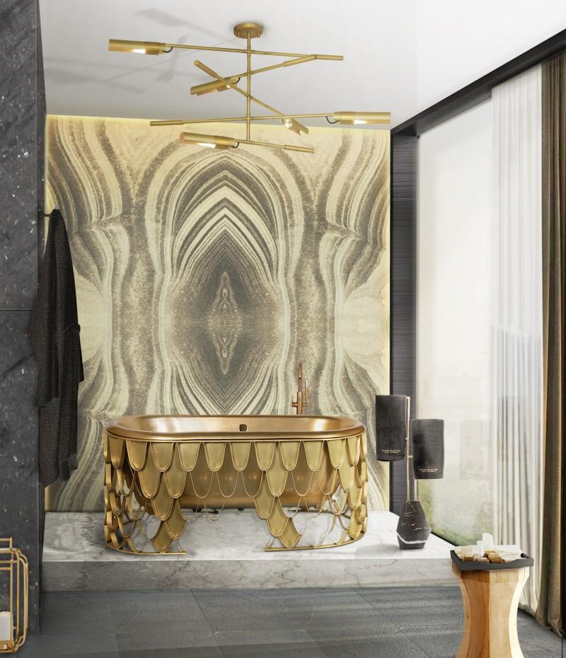 Iconic Bathroom Interior Design That Allow For Blissfulness Golden Bathroom