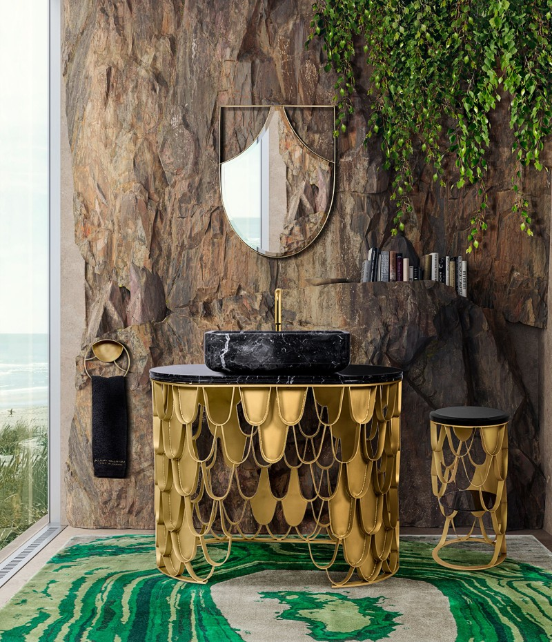 Green Bathroom Designs For Blissful Interiors Green Bathroom Designs Green Bathroom Designs For Blissful Interiors nature home spa feel with koi collection 1