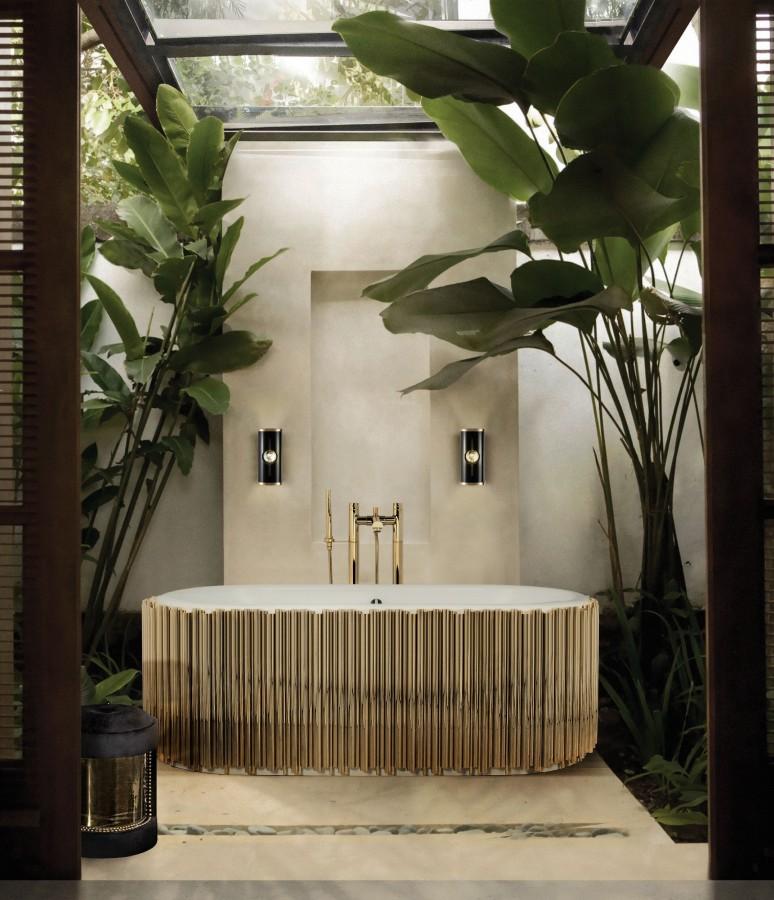 Green Bathroom Designs For Blissful Interiors Green Bathroom Designs Green Bathroom Designs For Blissful Interiors nature inspired and luxurious bath space with symphony bathtub 1