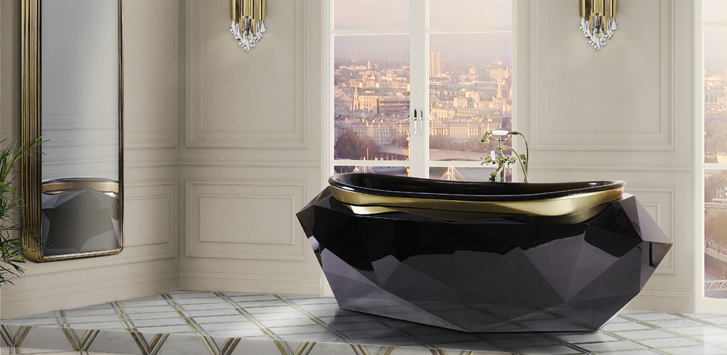 Home Decor Budgetista Bathroom Inspiration: Diamond Bathtub Maison Valentina
