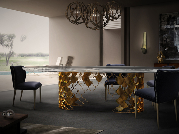 6 Elegant Dining Room Tables in Brass 6 Elegant Dining Room Tables in Brass1