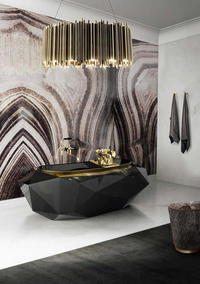 Diamond Bathtub Ambience Black And Gold For Your Luxury Bathroom Diamond  Bathtub Ambience