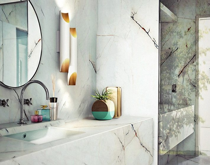 Get the look with this stunning marble bathroom  Get the look with this stunning marble bathroom Marble bathroom 710x560