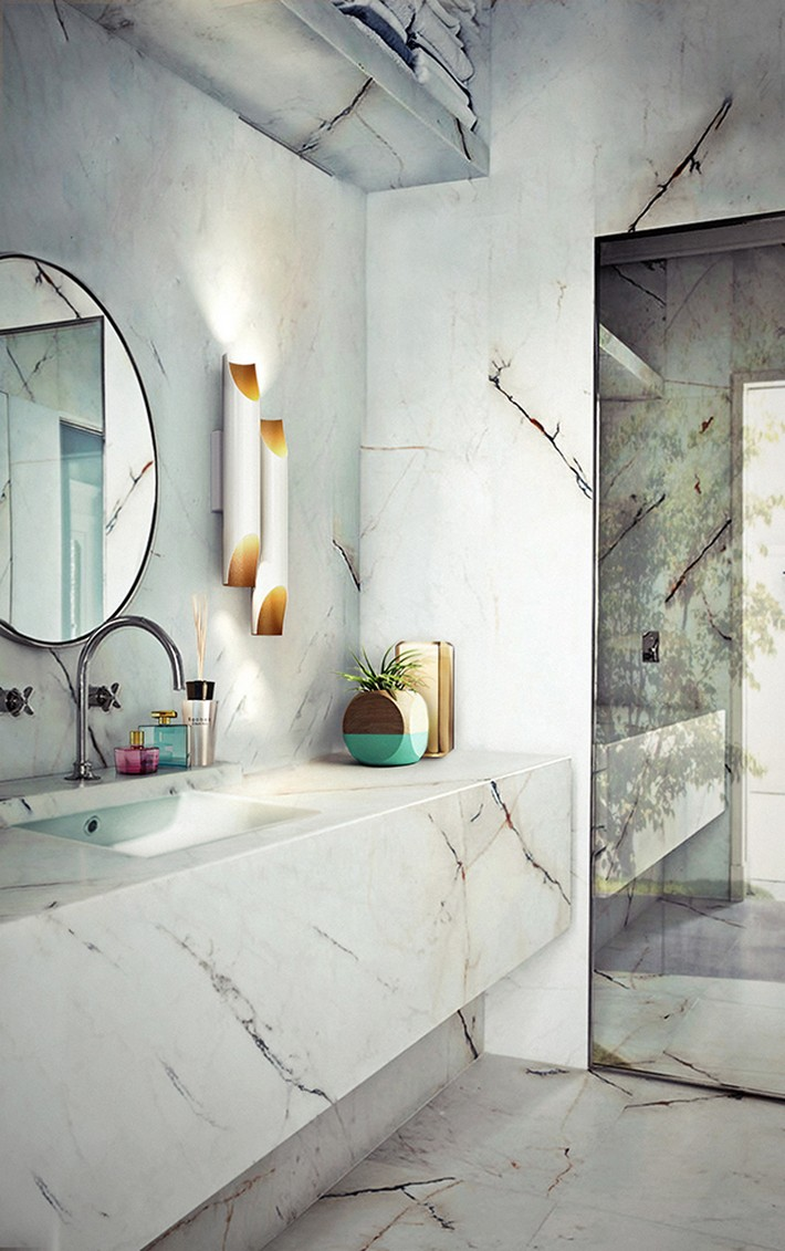 Get the look with this stunning marble bathroom  Get the look with this stunning marble bathroom Marble bathroom