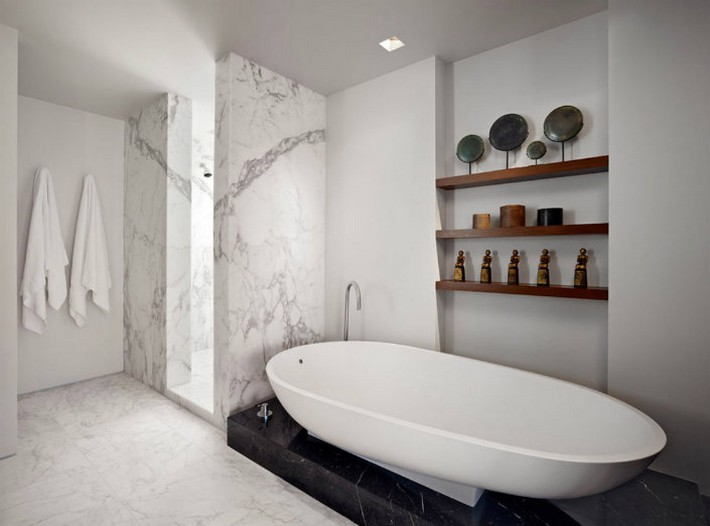 Modern Home Decor The Marble Bathroom  Modern Home Decor: The Marble Bathroom Modern Home Decor The Marble Bathroom bathtub
