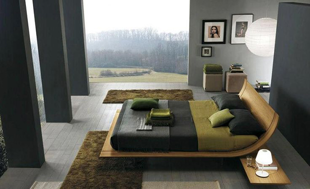 black-dry-green-and-wood-bedroom-07  Bedroom Palette Color Ideas black dry green and wood bedroom 07