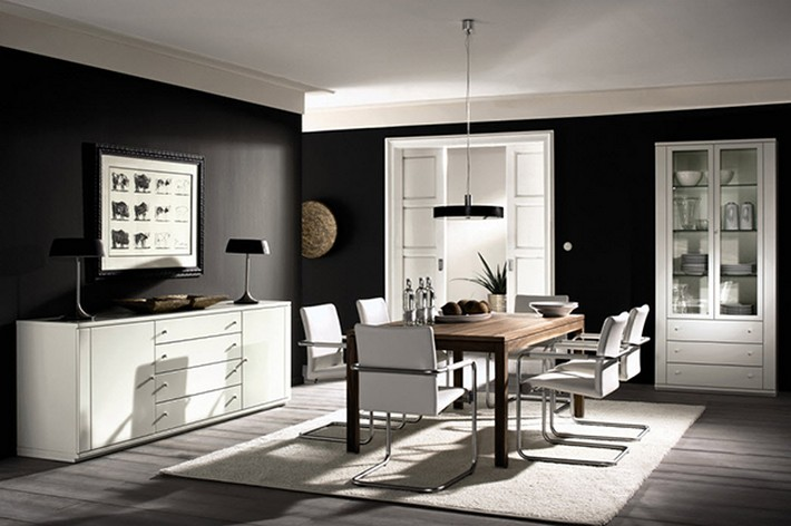 Amazing Ideas to decorate a dining room  Amazing Ideas to decorate a dining room bnw dining room
