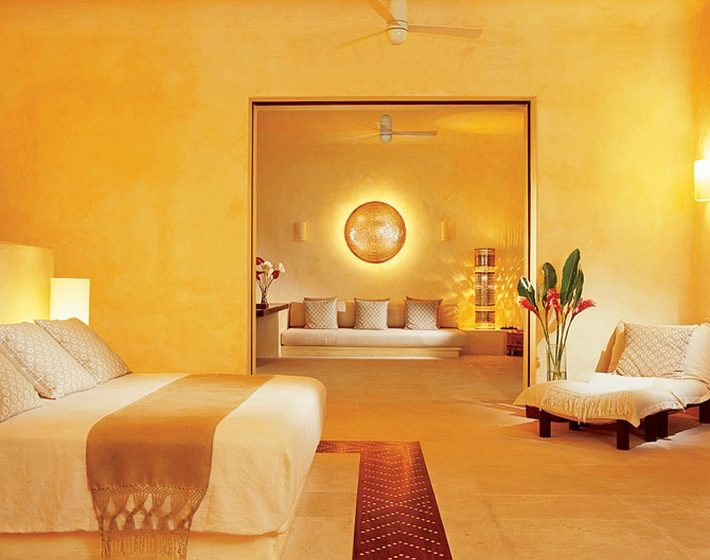 TOP BEDROOM COLOR PALETTE IDEAS  BEST BEDROOM COLOR PALETTE IDEAS yellow gold bedroom 710x560